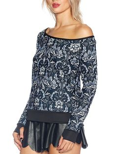 Mono Nouveau Off the Shoulder Sweater - LIMITED (AU $90AUD / US $60USD) by Black Milk Clothing