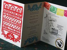 Mexican Fiesta Wedding Invitation Sample