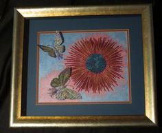 FRAMED SAMPLE FOR SALE $150.00 Butterflies 1