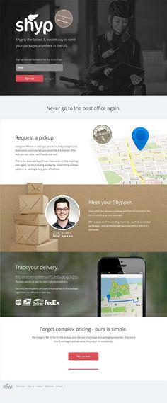 Shyp app site landing