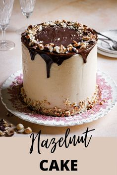 This Hazelnut butter cake is a tender, flavorful and unique cake exploding with Hazelnut flavor. You can bake it as a layer cake for a special occasion or in a loaf pan for an everyday afternoon snack.|#hazelnut #hazelnutcakerecipe #hazelnutrecipeidea #hazelnutcake #layercakerecipe #hazelnutlayercakerecipe #buttercake #buttercakerecipe #hazelnutbuttercream #frinchbuttercream #hazelnutcurd #dessert #cakeidea #birthdaycakeidea #poundcake| Baker Recipes, Best Dessert Recipes, Fun Desserts, Delicious Desserts, Recipes With Hazelnut Flour, Hazelnut Butter, Chocolate Hazelnut Cake, Mini Chocolate Chips, Cake Ingredients