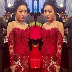 Ms.Linguling ❤️ #merrasofficial #merraskebaya #lace #kebaya #wedding