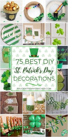 From festive St Patrick's Day wreaths to shamrock decorations, there are plenty of DIY St. Patrick's Day decor ideas to help you throw a fun St Patrick's Day party. Diy St Patricks Day Decor, St. Patricks Day, Cool Diy, Holiday Crafts, Holiday Fun, Holiday Ideas, Saint Patrick's Day, St Patrick's Day Decorations, St Patrick Decorations