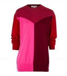The latest from Stella McCartney on #ShopBAZAAR: Long Colorblock Sweater