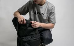 """Carhartt WIP SS17 """"Military"""" Collection - S/S CA Training Tee in Grey Heather with #Military Backpack. Available now at #CROSSOVER Flagship, Tebrau City and Mid Valley. #CarharttWIP #carharttwip_my #TrainingTee #crossoverconceptstore"""