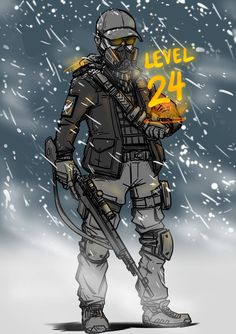 24 by on DeviantArt Cartoon Sketches, Art Sketches, Apocalypse Character, Tactical Armor, Tom Clancy The Division, Anime Muslim, Anime Military, Bloodborne, Army Soldier