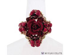 Miyuki Carmen Rose Ring Kit