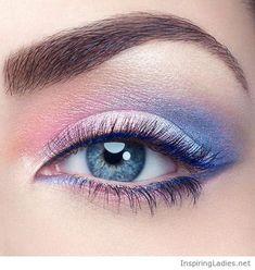 Awesome pastel eye makeup | Inspiring Ladies