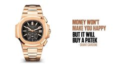 People will try and tell you money can't buy you happiness, but whoever told you that doesn't have any money to even know if that is true or not. Money can b. Success Magazine, Holding Company, Grant Cardone, Patek Philippe, Money, Silver