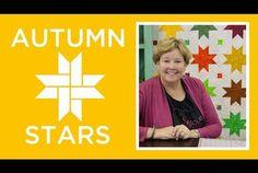 Make an Easy Autumn Stars Quilt (Missouri Star Quilt Company - YouTube)