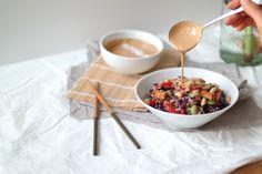 Rickshaw Brown Rice Nourish Bowl with Coconut Peanut Sauce