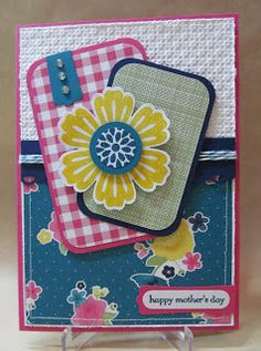 Savvy Handmade Cards: Gingham Garden Mother's Day Card