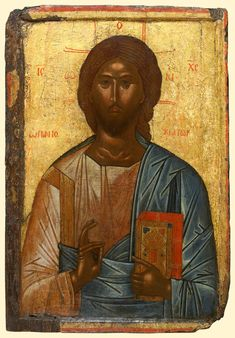 Our Savior, Russian early centuries icon.  detail