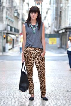 Necklace: Zara / Muscle tee: H & M / Trousers: Zara /Shoes: Topshop / Bag: Alexander Wang / Bracelets: Fashionology