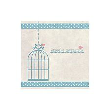 Birdcage Invitation (blue) by Bride & Groom Direct - Available through the Wedding Heart website:http://www.weddingheart.co.uk/bride-and-groom-direct---wedding-invitations.html