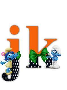 S.T.R.U.M.F.: Litere cu strumfi 2 Math For Kids, Alphabet Letters, Smurfs, Numbers, Fonts, Cartoon, Blog, Alphabet, Letters Of Alphabet