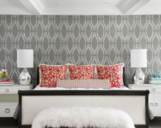 WALLPAPER :)     Contemporary Bedroom Design, Pictures, Remodel, Decor and Ideas - page 38