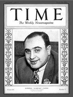 Capone en la portada de la revista Time