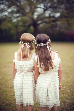 How cute are these flower girls in their really pretty dresses