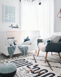 There is something so perfect and serene about a black and white nursery. These black and white nursery ideas will help you create a stylish space. Baby Room Boy, Baby Bedroom, Nursery Room, Kids Bedroom, Nursery Decor, Nursery Ideas, Nursery Themes, Nursery Layout, Baby Boys