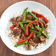 Tangerine Stir-Fried Beef with Onions and Snow Peas