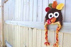 Turkey crochet hat.