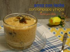 Arroz con leche con rompope y higos, un postre tradicional en olla de cocimiento lento.