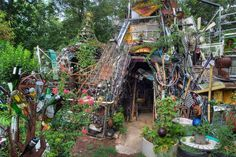 Taking my boys to see this man-made clubhouse / work of art today.    Austin | Cathedral of junk Austin, TX