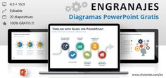 Modelos de Diagramas con Engranajes para PowerPoint