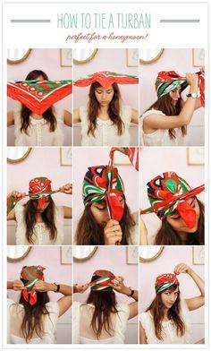 modi furbi di usare il foulard come fare il turbante 2