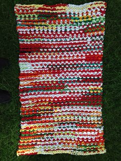 Knitted T-shirt Rug by SavedbyKate on Etsy                                                                                                                                                      More