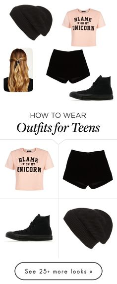 """""""Just A Bit Of Pink...... This Time Mauhahahahah"""" by meowkie on Polyvore featuring Andrew Gn, Converse, Phase 3, Natasha Accessories, women's clothing, women's fashion, women, female, woman and misses"""