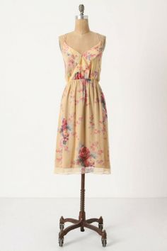 Love this neutral yet floral dress. From anthropologie must be from an older collection.