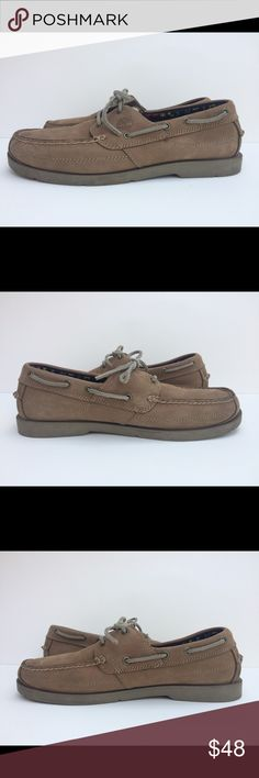 Timberland Earthkeepers Kiawah Bay Shoe Size 10 Pre-owned, in great condition, Timberland Earthkeepers Kiawah Bay Boat Shoe Men's Size 10 Color is Light Taupe Features: Leather/Textile Imported Rubber sole Mocc-toe boat shoe featuring two-eyelet lacing and slotted collar Cushioned insole Timberland Shoes Boat Shoes