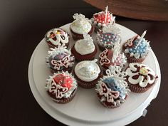 New Year 2017 cupcakes