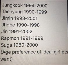 Image result for bts ages oldest to youngest 2017
