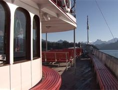 On deck aboard Unterwalden - CLICK ON THE PICTURE TO WATCH THE VIDEO Watch Video, Video Clip, Deck, Ship, Outdoor Decor, Pictures, Photos, Front Porches, Decks
