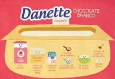Receita-ilustrada 106: Danette de chocolate branco caseiro http://mixidao.com.br/receita-ilustrada-106-danette-de-chocolate-branco-caseiro/