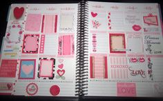 February Monthly Printable Valentine Stickers for Erin Condren Life Planner, Plum Paper Planner, planner sticker bundle, pink, red, hearts by WashiPlannerStickers on Etsy https://www.etsy.com/listing/218024943/february-monthly-printable-valentine