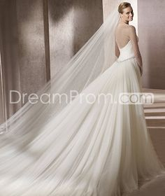 Fabulous A-Line Floor-Length  Illusion Sleeve Tulle Wedding Dresses 2014 Spring Trends