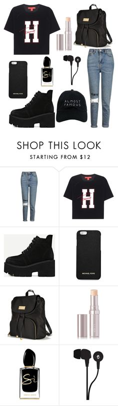 """#45"" by millioneyes ❤ liked on Polyvore featuring Topshop, Tommy Hilfiger, MICHAEL Michael Kors, Victoria's Secret, La Mer, Giorgio Armani, Skullcandy and Nasaseasons"