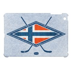 Norway Norge Ice Hockey iPad Mini Case.  These customizable hard shell iPad mini cases will protect your tablet while looking great! To see the full range of items with this #hockey design, please check out my store: http://www.zazzle.com/gamefacegear*/  #IceHockey
