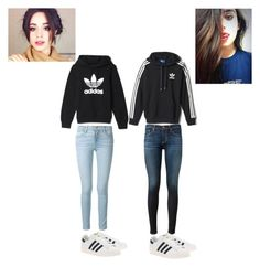 """""""Camren"""" by i-iwashere ❤ liked on Polyvore featuring adidas, Frame Denim, AG Adriano Goldschmied and adidas Originals"""