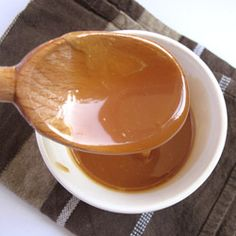 A ginger caramel sauce, goes extremely well with a gluten free chocolate fondant.