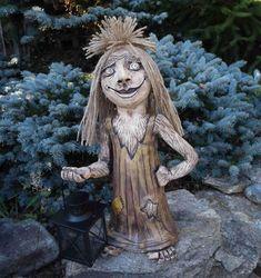 Strašidlo s lucerničkou / Zboží prodejce Milena Korbářová Daenerys Targaryen, Lion Sculpture, Statue, Fictional Characters, Art, Crafting, Art Background, Kunst, Performing Arts