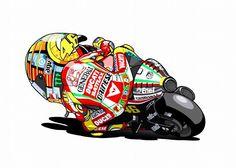 Rossi on the Desmo - Fujiwara Drawing