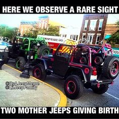 OH.MY.GOSH!!!!! I want to do this to my Jeep SOOO badly! What do you think, Steph? Over the top a bit?