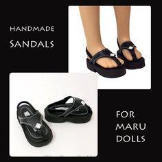 "Black Sandals fit 21"" Maru & Friends Dolls, or Sasha Dolls by MegOrisDolls on Etsy"