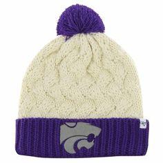 61b44fd5c76b  47 Brand Kansas State Wildcats Ladies Thick Knit Cuffed Beanie -  Purple Natural