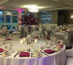 Wedding reception inspiration #manchestercountryclub #reception #wedding #centerpieces #pinkandivory